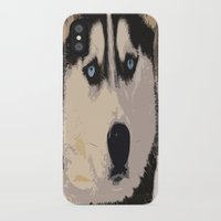 duvet cover iPhone & iPod Cases featuring DOG DUVET COVER by aztosaha