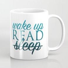 Wake Up, Read, Sleep - Blue Mug
