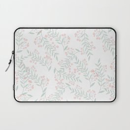 Coral Green Foliage Berries Greenery Plant  Laptop Sleeve