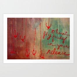 o heart Art Print