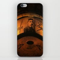 kafka iPhone & iPod Skins featuring Cafe Kafka by Bella Blue Photography