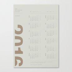 2016 Calendar | Earth Canvas Print