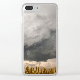 Marshmallow - Storm Cloud Over Golden Wheat in Kansas Clear iPhone Case