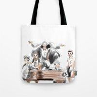 haikyuu Tote Bags featuring Haikyuu!! Squad by Pruoviare