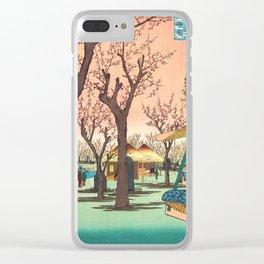 Plum Garden Clear iPhone Case