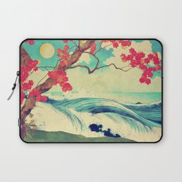 Waking to the Wild and Beautiful Ocean of Dhin Laptop Sleeve