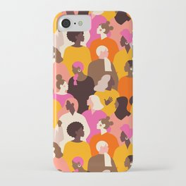 Female diverse faces pink iPhone Case