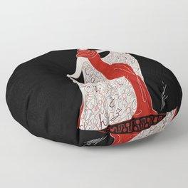"Art Deco Fashion Design ""Alphabet Cloak"" Floor Pillow"