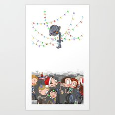 There are CHRISTMAS strings on me... Art Print
