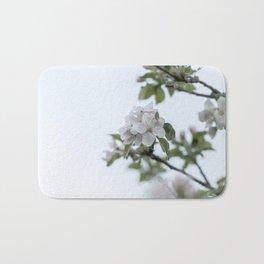 Apple tree spring blossoms Bath Mat