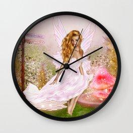 Pink Opal Wall Clock