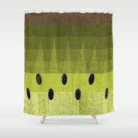 kiwi Shower Curtains featuring Kiwi by Kakel