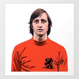 Cruyff - Holland player Art Print