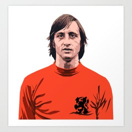 Cruyff - Holland player Art Print
