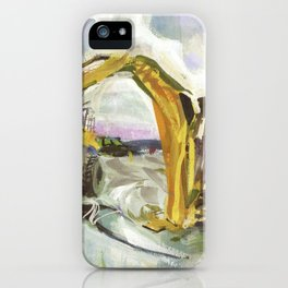 Blue whale on Second Beach, dissection with back-hoe, No. 4 - Middletown iPhone Case