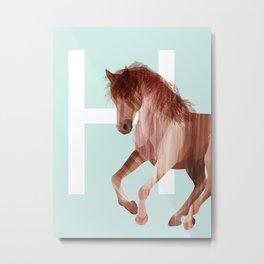 H-Horse Metal Print