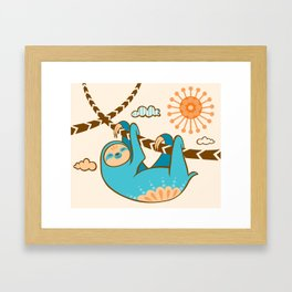 Just Hang In There Framed Art Print