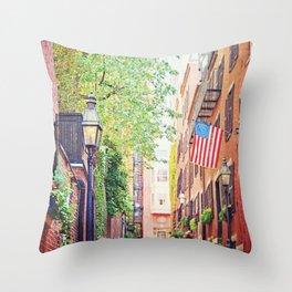 Historic Acorn Street, Beacon Hill Throw Pillow