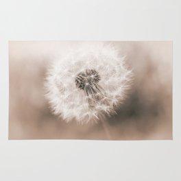 Spring Dandelion in Sepia Rug
