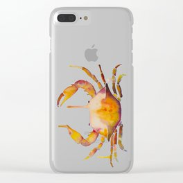 Water Crab Color Clear iPhone Case