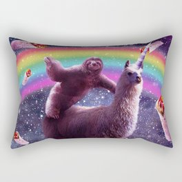 Sloth Riding Llama Rectangular Pillow