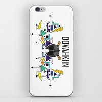 skyrim iPhone & iPod Skins featuring Skyrim: The Dovahkiin - BLUE by E_Nicholson