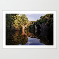 geology Art Prints featuring Mystical stone arch by UtArt