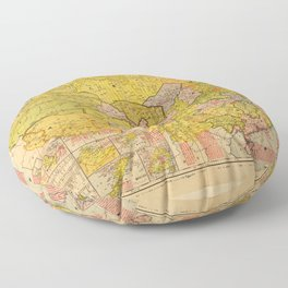 Map of China (1931) Floor Pillow