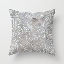Young Medusa Throw Pillow