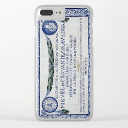 Cervantes Homage in Cordoba Clear iPhone Case