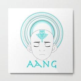 Aang mandala Metal Print