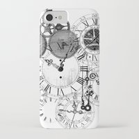 clockwork iPhone & iPod Cases featuring Clockwork by VectoriaDesigns