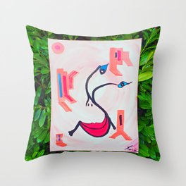 Be Positiv and Keep Smiling Throw Pillow