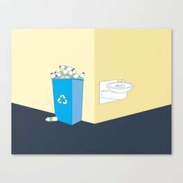 Recycling Water Bottles Canvas Print