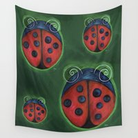 ladybug Wall Tapestries featuring Ladybug by Mundo Ardana