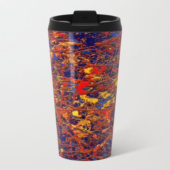 Abstract #725 Metal Travel Mug