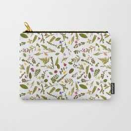 Greenery Floral Pressed Flowers Carry-All Pouch