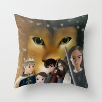 narnia Throw Pillows featuring Narnia by BellaG studio