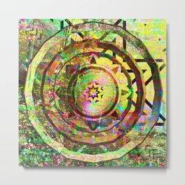 Pastel Grunge Mandala Metal Print