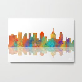 Skyline Philadelphia Metal Print