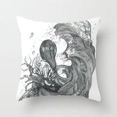 Eatsleepdraw cover art - liquid theme Throw Pillow
