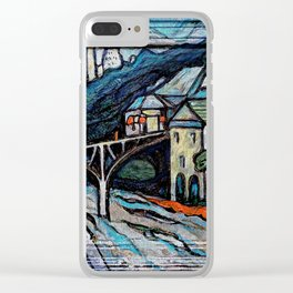 Newtown of the Future Clear iPhone Case