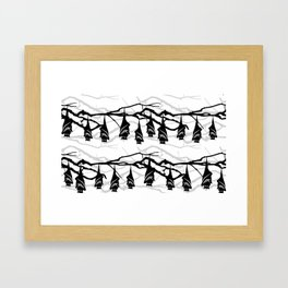 Bats hanging on tree : TM17046 Framed Art Print