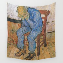 Vincent van Gogh - Sorrowing Old Man (At Eternity's Gate) Wall Tapestry
