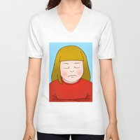 nope V-neck T-shirts featuring Nope by Caz Haggar