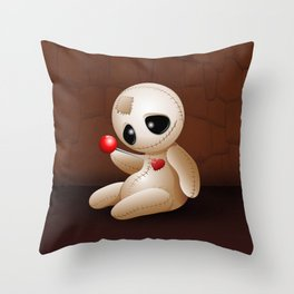 Voodoo Doll Cartoon in Love Throw Pillow