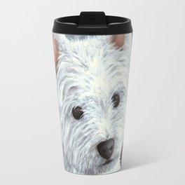 Dog 137 White Westie Travel Mug