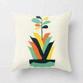 Exotic geometric plant Throw Pillow