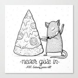 Pizza Rat Canvas Print