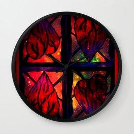 Mi Corazon (My Heart) - Symmetrical Art 3 Wall Clock